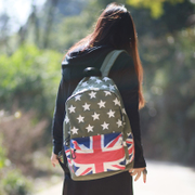 Blue space 2015 new leisure middle school students in female street fashion canvas backpack school bag backpack bag us