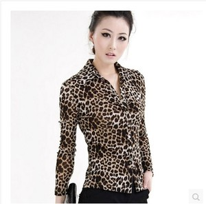 Sound rain bamboo 2019 autumn and winter women's clothing counter is brand domestic purchasing leopard pattern shirt shirt clearance sale discount