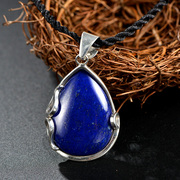Thai natural lapis lazuli pendant s925 silver wrapping simple and elegant fashion ladies pendant