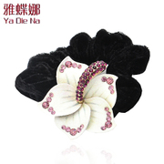 Ya na jewelry rhinestone ring ring wire flower hair accessories made by the Korean Y025