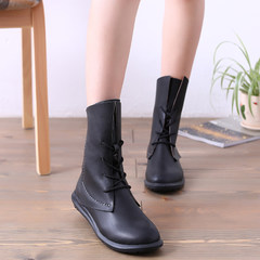 MI Ka 2015 fall New England wind with Martin boots shoes short boots with round head thick lacing high women shoes