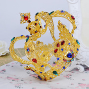 Good jewelry yina Baroque beauty bride Crown tiara luxury atmosphere, Central Europe photography accessories