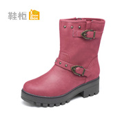 Shoebox coarse with Martin boots women shoe boots warm Waterproof blind rivet ankle boots boots women 1114607271
