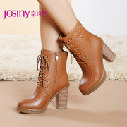 Zhuo Shini coarse boots fall/winter 2014 women's short boots Western fashion boots 144478524