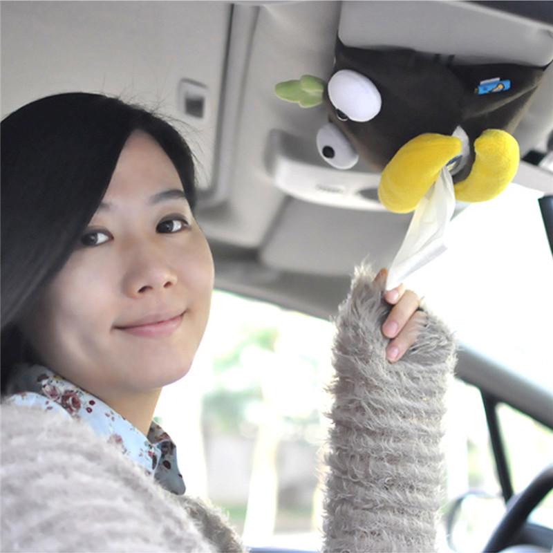 汽车纸巾盒挂式车载抽纸盒卡通挂遮阳板车内纸巾盒创意可爱内饰品