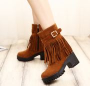 Europe Su boots, women''s boots Trends 2015 new autumn winter boots warm thick nubuck leather and high heel boots