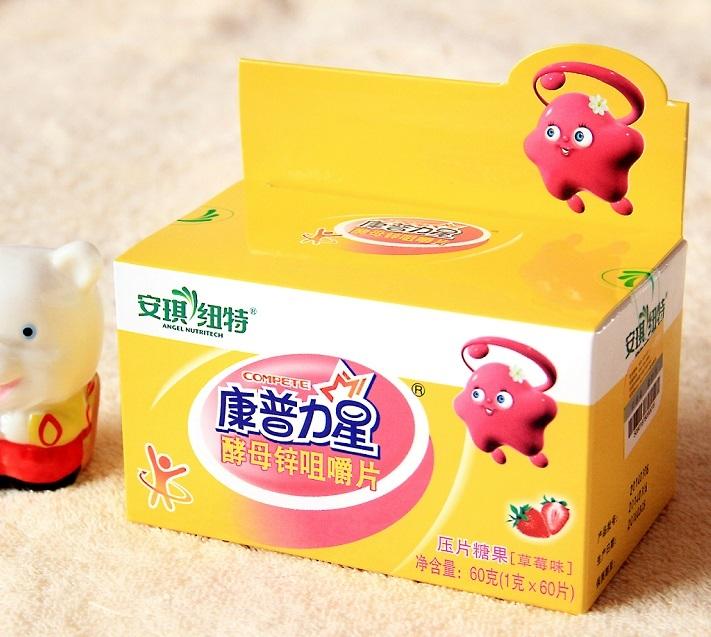 [转卖]安琪纽特康普力星酵母锌咀嚼片草莓味儿童幼儿补锌含片