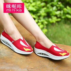 MI Ka fall 2015 rocking shoes women's sports and leisure shoes, thick-soled shoes feet lazy people Korean wave shoes