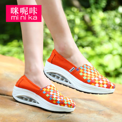 MI Ka fall 2015 new canvas shake shoes women fashion casual light sets foot lazy shoes women's shoes