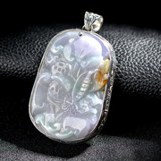 S925 silver vintage carved Jade pendants Thai female new variety of optional