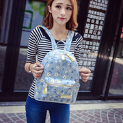 Flight bag 2015 new Korean printing small fresh flower backpack school bag school bags