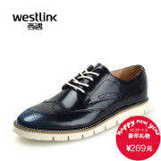 West-fall 2015 new retro Brock carved leather shoes of England wiped color leather strap casual men shoes