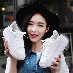 秋季2017新款百搭韩版小白鞋女学生鞋子厚底板鞋休闲鞋运动鞋女鞋