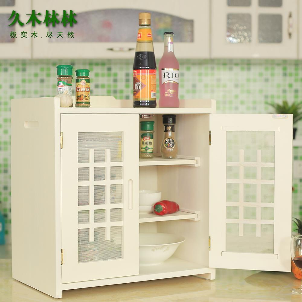 实木小碗柜厨房碗橱柜家用简易菜柜餐边柜现代简约北欧餐厅经济型