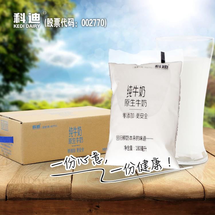 科迪旗舰店原生网红奶科迪牛奶透明袋装180ml*16袋早餐奶包邮