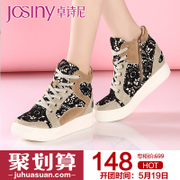 Zhuo Shini spring 2015 new casual shoes fashion laces with round head deep mouth shoe 151712670
