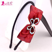 Haomei new sweet and lovely hair jewelry multi-layer fabric butterflies first Hoop and South Korea provided hoop