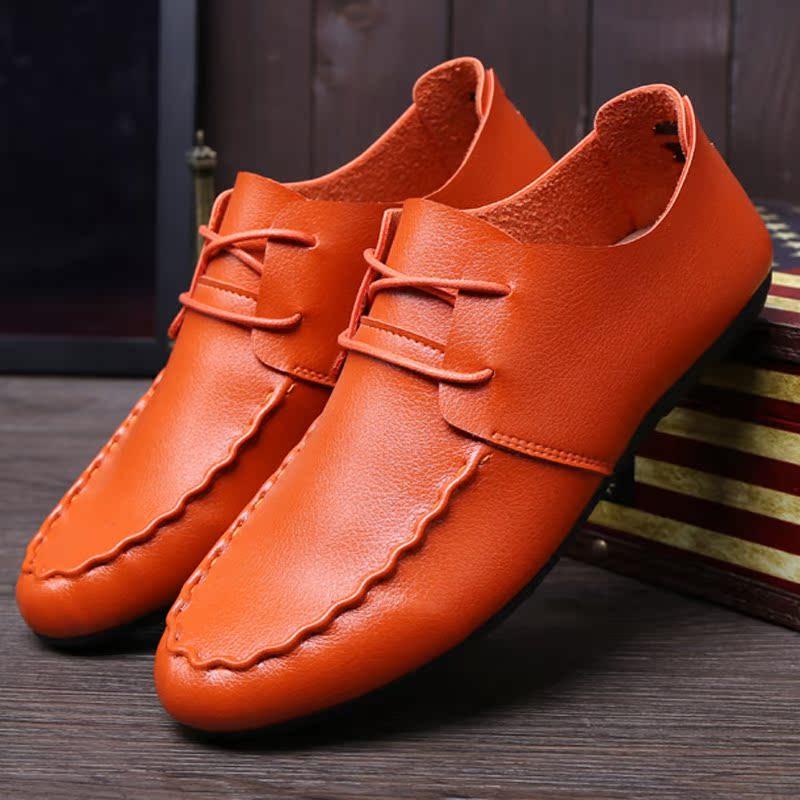 春秋季男款帆船鞋男士休闲潮鞋子系带平底男鞋透气豆豆鞋耐磨板鞋