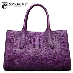 Jules brand alligator leather portable bag 2015 atmosphere for winter new style leather ladies bag classical skin woman