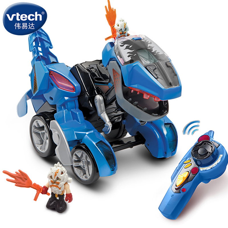 伟易达变形恐龙vtech战神遥控霸王龙机器人儿童男孩汽车变形玩具