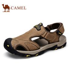 Camel/骆驼凉鞋沙滩鞋 2016夏季户外运动登山凉鞋 休闲真皮男凉鞋