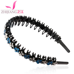 Zhijiang headband Korea hairpin hair clip hair hair wide-toothed girl headband hair accessories hair clip before the first flower