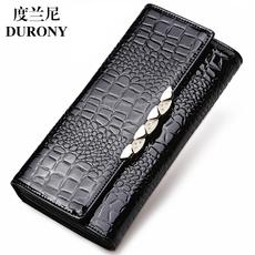 度兰尼女士钱包2016新款韩版三折女长款钱夹女式手拿包牛皮皮夹