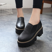 Korean version of the new platform platform 2015 fall student shoes women shoes high low casual shoes leather shoes