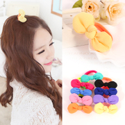 Know NI Korea hair ACC candy color fluorescent double-color Butterfly first string flower head rope