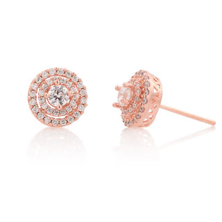 Straight Stud Earrings fashion jewelry earring earring women Korea temperamental stars allergy-Korean version of diamond earrings