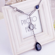 Package mail jewelry in Europe and collarbone length chain wild wind fashion necklace sweater chain