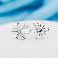 格林凯925银小花朵耳钉女甜美简约耳环防过敏饰品耳饰银针耳钉