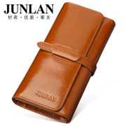 LAN genuine new 2015 purse, JUNLAN June Korean long women's wallets genuine leather ladies wallet leather