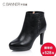 C.BANNER/for thousands of new 2015 winter/PU leather gorgeous rhinestones high heel boots boot A5586230