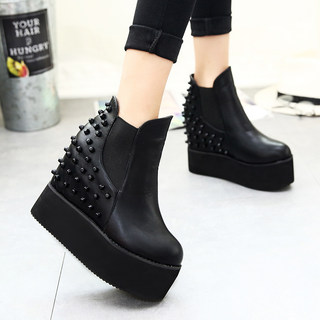 Thick-soled boots high 2015 new Korean fashion short boots Ji Song naked cake for fall/winter boots women's shoes boots
