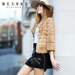Ladies fur pink doll 2015 new fur rabbit hair new winter coat women short fur