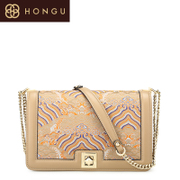 Honggu red Valley woman counters authentic new purses casual ladies fashion bags leather shoulder bag 5887
