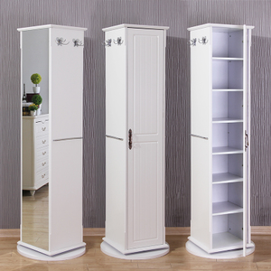 Full-length mirror floor makeup mirror household rotating dressing mirror shoe cabinet dressing cabinet floor mirror multifunctional cabinet can be stored