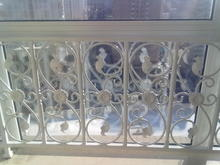 欧款铁艺护yi2 飘窗护in墙栏杆楼梯扶手隔断护栏走廊栏杆