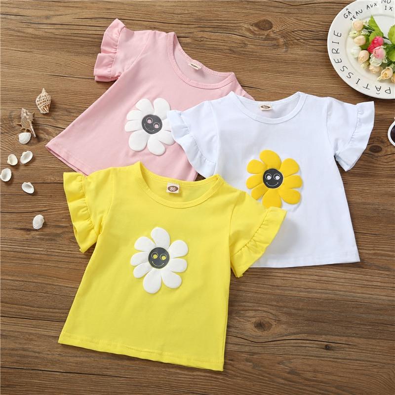 全幼儿园最可爱T恤纯色上衣 棉质短袖2018新款休闲打底衫潮女童装