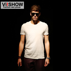 Viishow new men's short sleeve men's t-shirt in Europe and Impressionism original short sleeve t-shirt crew neck cotton surges t