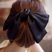 Know Connie hair width fabric fashion issuing exaggerated satin Butterfly first Collet clip top clip ponytail jewelry