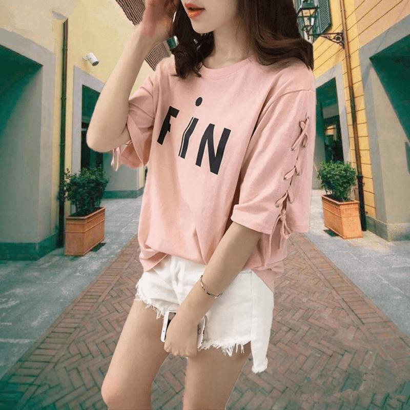 短袖t恤女2017夏季新款中袖衣服学生韩版大码宽松体恤夏天女装