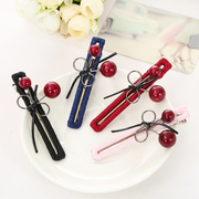 Know Richie head accessories hair accessories Korean hand sewing cherry hair clip bangs issuing winding alloy hollow clip