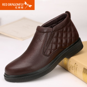 Red dragonflies daily casual and comfortable genuine leather men's shoes fall/winter new lacing high fashion men's shoes