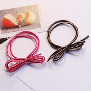 Korean version of the new fluorescent hair color ring rope candy-color bow string band color hair jewelry