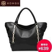 Honggu red genuine new European fashion Valley 2015 counters the first layer leather portable bag 7219