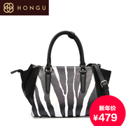 Honggu Hong Gu 2015 counter genuine new European fashion solid color stitching leather ladies bags 8031