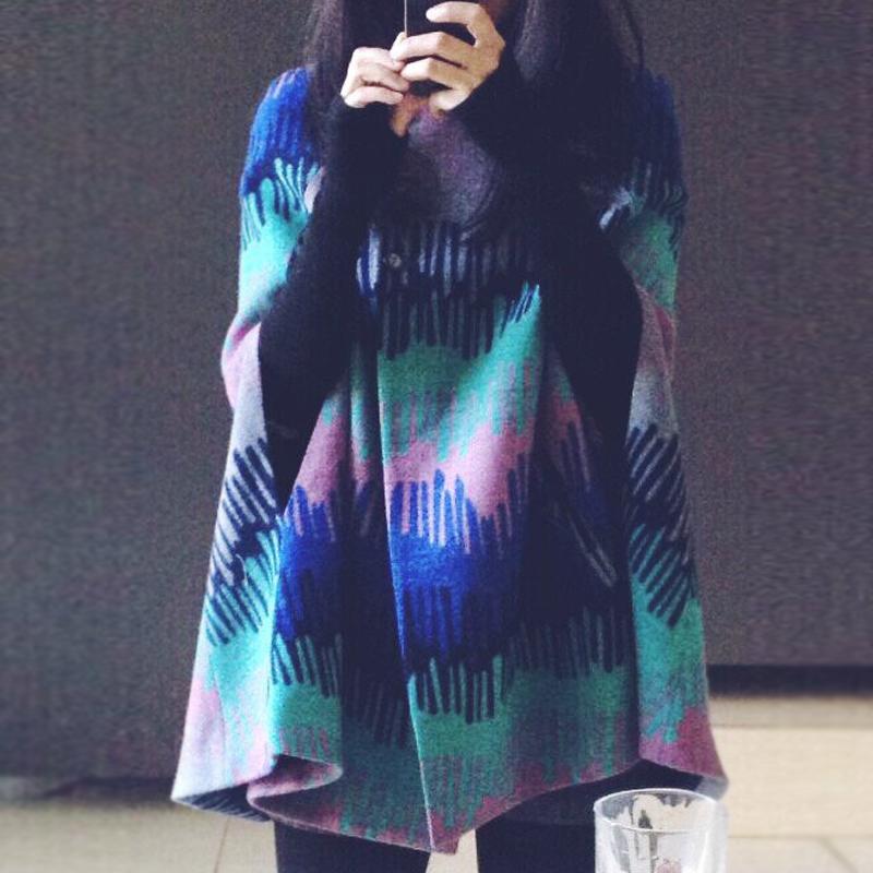 新款短款呢子斗篷外套女复古气质披风外套女秋冬款拍下减40元