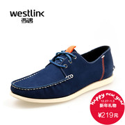 West fall 2015 new shoe trends in Europe and America casual soft leather contrast color lace round head low cut men shoes